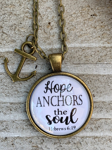 Hope Anchors the Soul Pendant Necklace