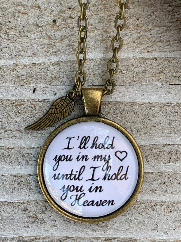 I'll Hold You in my Heart Pendant Necklace