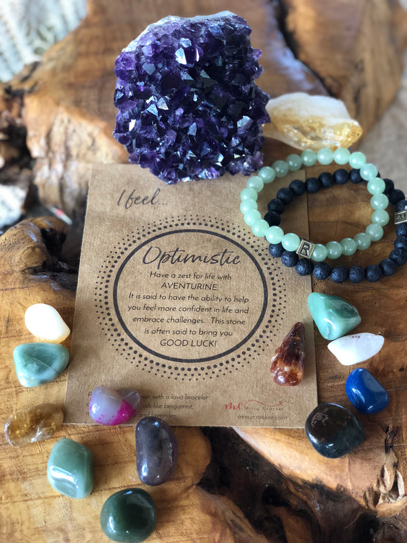 "Aventurine Natural Gemstone Bracelet - ""I feel..."" Optimistic"