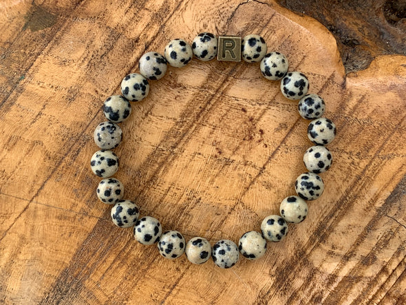 Natural Stone Bracelet - Dalmatian Jasper - I Feel Joyful (SALE!)