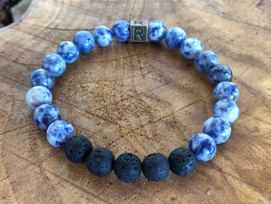 "Sodalite Natural Gemstone Aromatherapy Bracelet ""I Feel..."" Inspired"