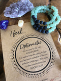 "Aventurine and Lava Natural Gemstone Bracelet - ""I feel..."" Optimistic"