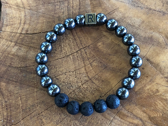 "Hematite Natural Gemstone Aromatherapy Bracelet - ""I feel..."" Refreshed"