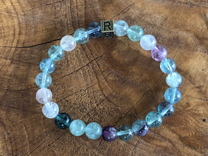 "Natural Stone Bracelet - Fluorite - ""I Feel..."" Connected  (SALE!)"