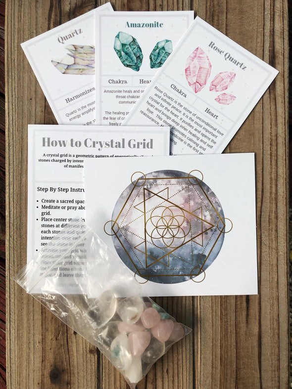 Love and Balance Crystal Gridding Kit