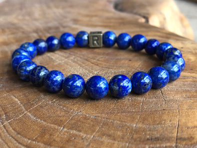 Blue Lapis Natural Stone Bracelet - I Feel Encouraged