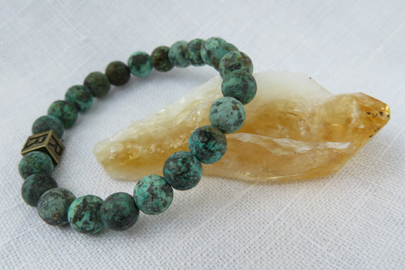 "African Turquoise Gemstone Bracelet - ""I feel..."" Whole"
