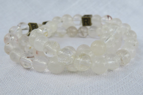 "Quartz Natural Gemstone Bracelet - ""I feel..."" Grateful"