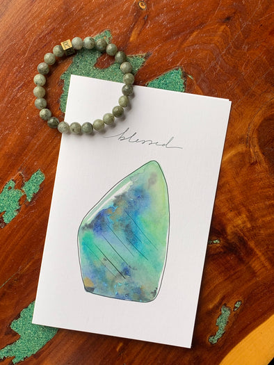 Labradorite Natural Stone Bracelet - I Feel Blessed