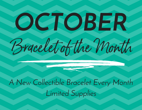 "Bracelet of the Month - October - ""I Feel..."" Connected -  FLUORITE"