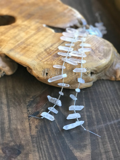 Quartz Points on String Beads