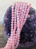 Rose Quartz Natural Stone Beads - Glossy - 8mm