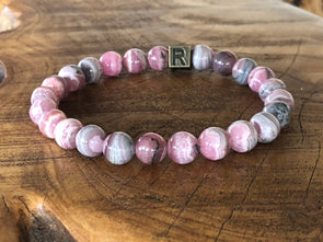 Natural Stone Bracelet- Rhodochrosite - I Feel Worthy (SALE!)