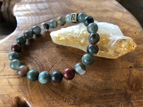 "Bracelet of the Month - ""I Feel..."" BRAVE - Bloodstone - August"
