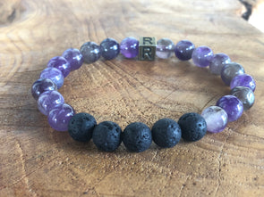 "Amethyst Natural Gemstone Aromatherapy Bracelet - ""I Feel..."" Strong"