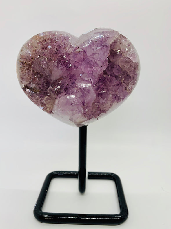 Amethyst Crystal Heart with Stand
