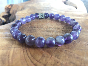 "Amethyst Natural Gemstone Bracelet - ""I Feel..."" Strong"