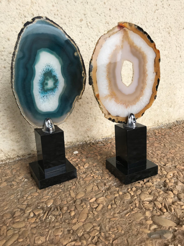 Sliced Agate with Stand