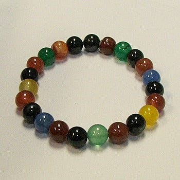 Rainbow Color Agate Stone Bracelet