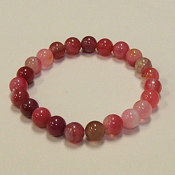Red Lace Agate Stone Bracelet