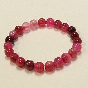 Red Rose Agate Stone Bracelet