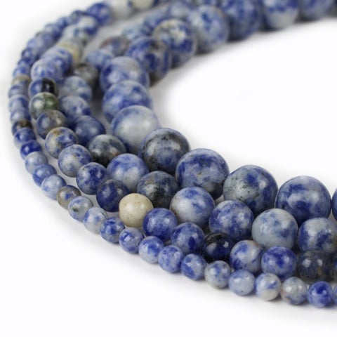 Sodalite Natural Stone Beads - Gloss - 8mm
