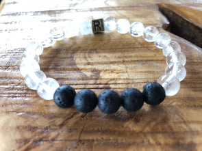 "Quartz Natural Gemstone Aromatherapy Bracelet - ""I Feel...""  Grateful"