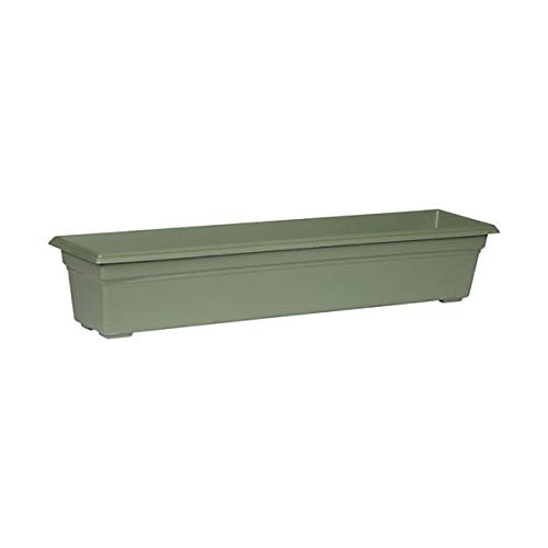 Countryside Flower Box Planter, Sage, 36-Inch