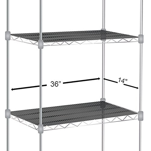 Shelf Liners for Wire Shelf Liner Set of 4 - Graphite (14-Inch-by-36-Inch)