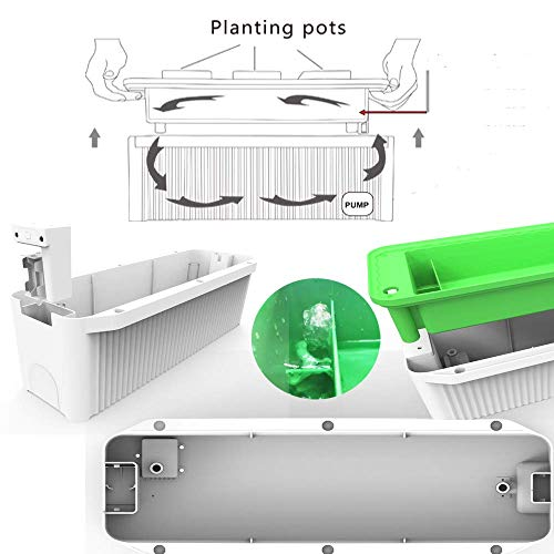 "Big Smart Hydroponics Growing System self Watering Gardening System with Built-in Pump and Smart Reminder 60"" Climbing Trellis Super Indoor hydroponics Growing System"