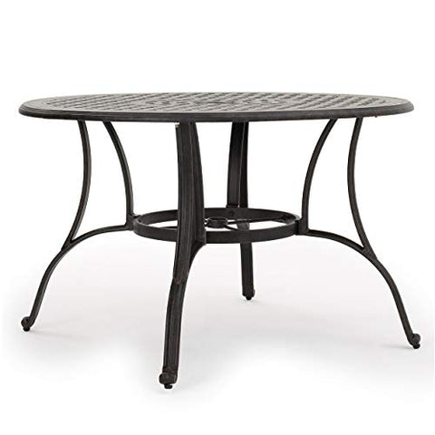 Christopher Knight Home Alfresco Outdoor Cast Aluminum Circular Dining Table, Bronze