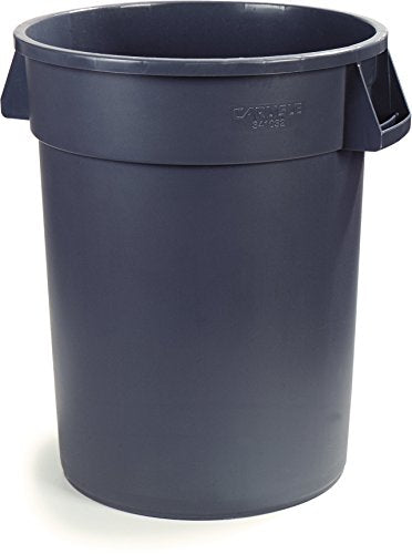 Carlisle 34103223 Bronco Round Waste Container Only, 32 Gallon, Gray