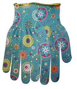 Midwest Gloves & Gear 506-L-AZ-6 Ladies Garden Gloves, Floral Print
