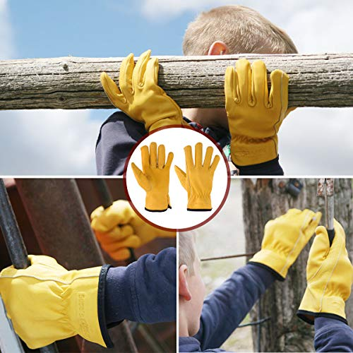 Suse's Kinder Work Kids Gardening Glove, Med Ages 6-8, Yellow