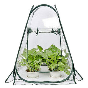 "Mini Small Greenhouse for Plant Outdoors Indoor, Pop Up Portable Grow Greenhouse Tent Flower House Gardening Backyard (28""x28""x32"")"
