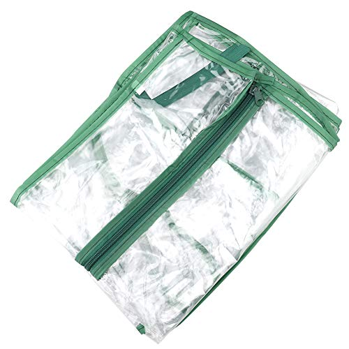 Okngr 2-Tier Plant Greenhouse Cover Clear Plastic Mini Greenhouse Replacement Cover PVC Plant Greenhouse Cover Fit for 2-Tier Frame Outdoor Plant Flower Garden Accessories