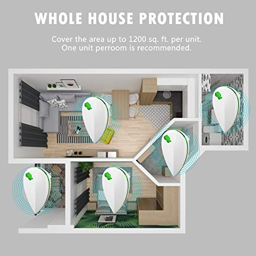AIGOO Ultrasonic Pest Repeller,Pest Repellent Indoor Pest Control for Insects,Mouse,Plug in Ultrasonic Pest Repellent 4 Pack