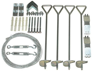 Palram Anchor Kit for Nature Series Greenhouses, Silver
