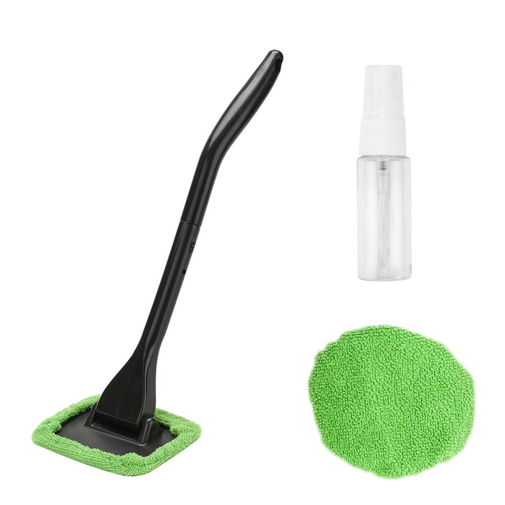 XINDELL Window Windshield Cleaning Tool Microfiber Cloth Car Cleanser Brush with Detachable Handle Auto Inside Glass Wiper Interior Accessories Car Cleaning Kit