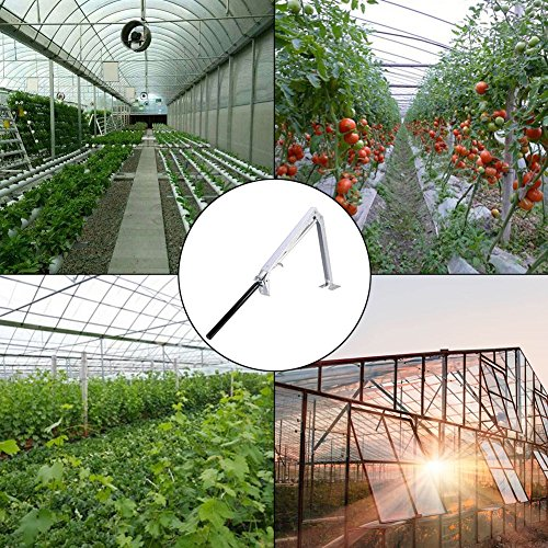 Wiwir Solar Heat Sensitive Automatic Greenhouse Vent Opener Auto Vent Kit Gardening Tools for Greenhouses Roof Ventilation (Single Spring Vent Opener)
