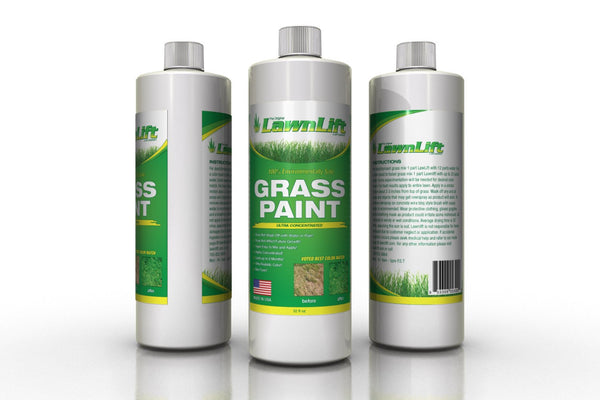 Lawnlift Ultra Concentrated (Green) Grass Paint 1 Quart = 2.75 Gallons of Product.