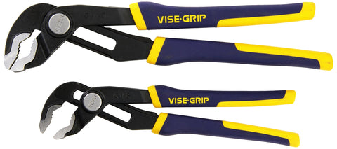 IRWIN VISE-GRIP GrooveLock Pliers Set, V-Jaw, 2-Piece (2078709)