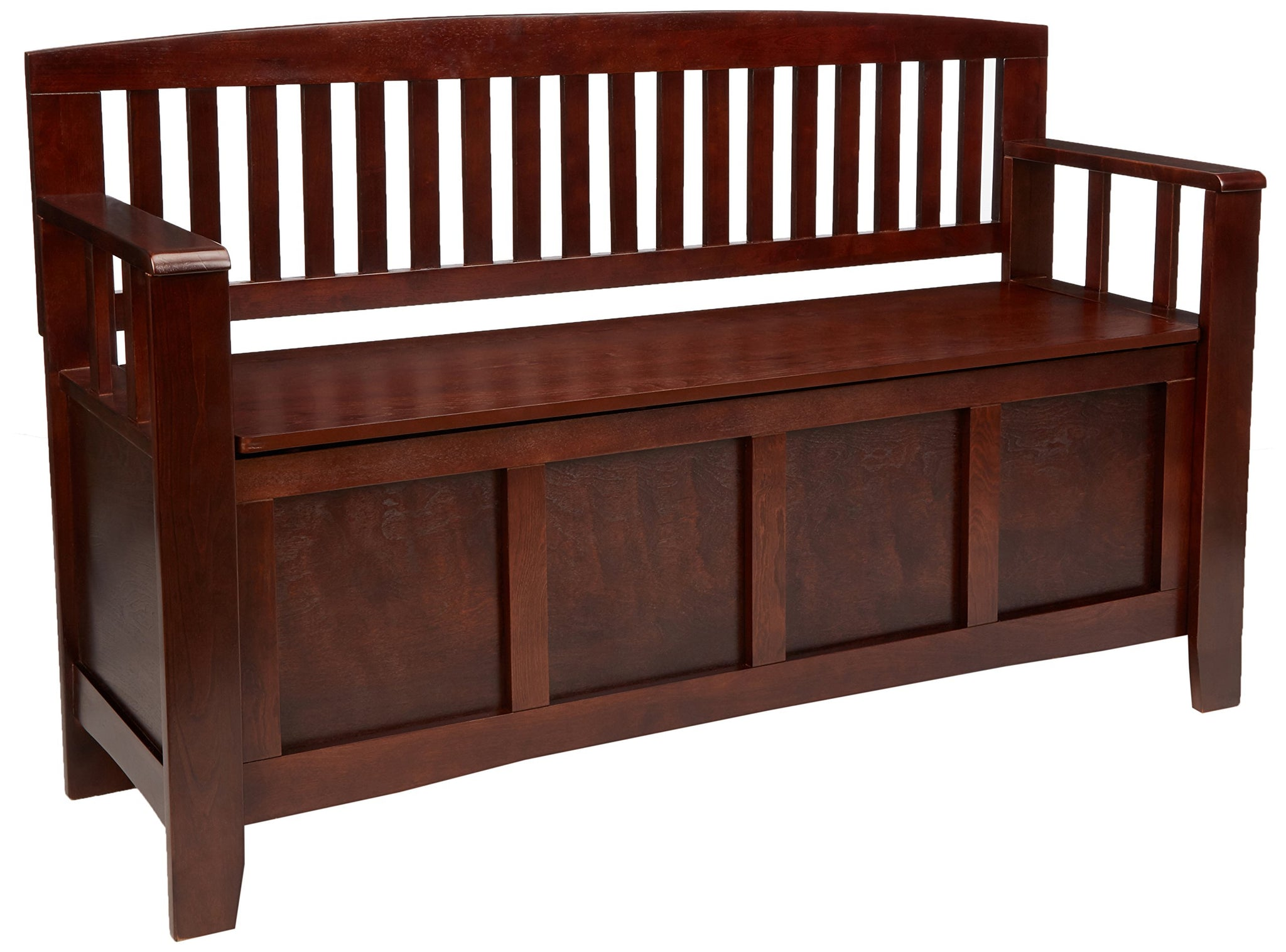 "Linon Home Dcor Linon Home Decor Cynthia Storage Bench, 50""w x 17.25""d x 32""h, Walnut"