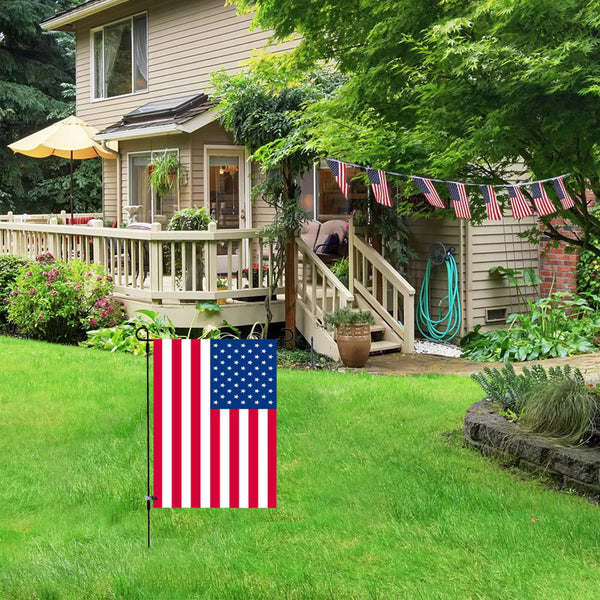 "Garden Flag Stand-Holder-Pole with Garden Flag Stopper and Anti-Wind Clip 36.3""H x 16.5""W For USA Flag Or Season Garden Flags Keep Your Flags from Flying Away in High Winds"