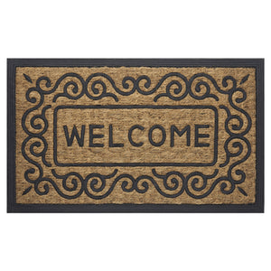 Achim Home Furnishings COM1830SC6 Scrolls Coco Door Mat, 18 by 30""