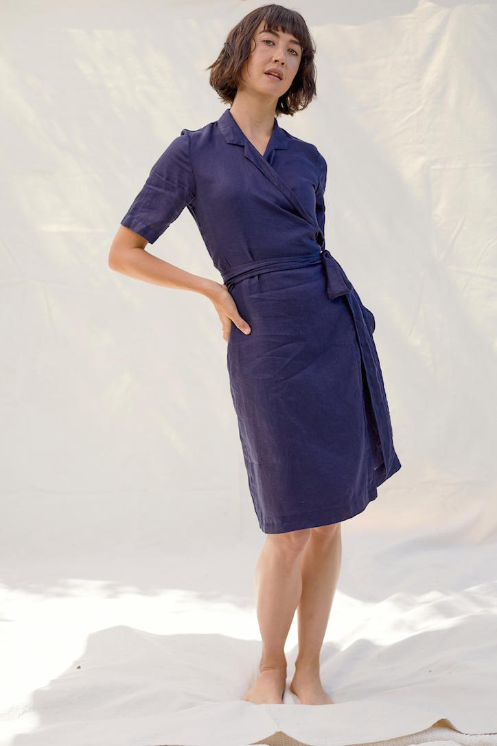 Wrap Dress in Navy