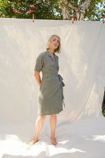Wrap Dress in Olive