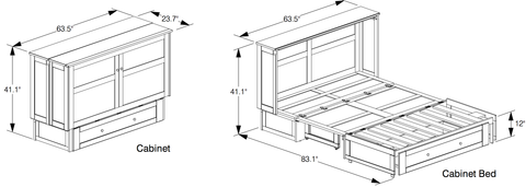 Murphy Cabinate Bed Dimensions