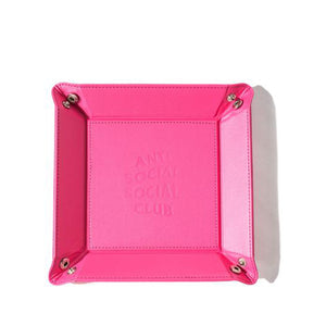 Pink Leather Tray