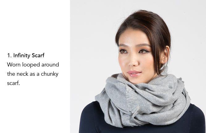 Cashmere Wrap by Etugen Cashmere, Infinity Scarf, Chunky Scarf